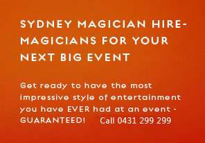 magicians for hire sydney